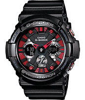 G-Shock GA-200SH-1A X-Large Black & Red Watch