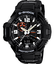G-Shock GA1000-1A G-Aviation Twin Sensor Black Watch