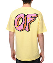 Odd Future New OF Donut Yellow Tee Shirt