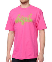 Odd Future High Pink & Neon Green Tee Shirt