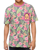 Odd Future Earl Floral Pocket Tee Shirt