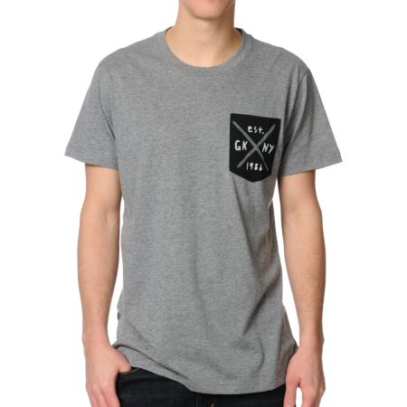 Glamour Kills Traditional Grey Pocket Tee Shirt