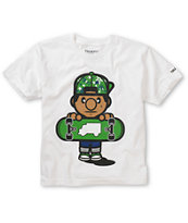 Trukfit Boys Lil Tommy Fill White Tee Shirt
