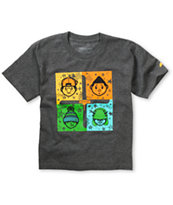 Trukfit Boys Connect Four Charcoal Tee Shirt