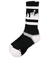 Strideline Classic SeaTown Black & White City Socks