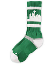 Strideline Classic SeaTown Green & White City Socks