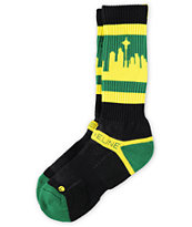 Strideline Classic City Green & Yellow Socks