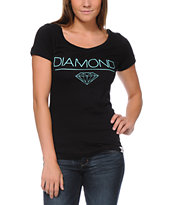 Diamond Supply Girls White Space Black Tee Shirt