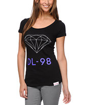 Diamond Supply Girls DL-98 Black Tee Shirt