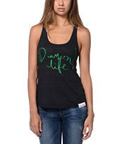Diamond Supply Girls Handwritten Charcoal Racerback Tank Top