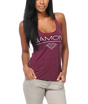 Diamond Supply Girls White Space Crimson Tank Top