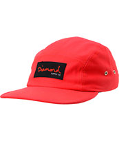 Diamond Supply OG Script Red 5 Panel Hat