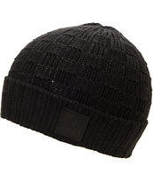 Diamond Supply Checker Black Fold Beanie