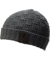 Diamond Supply Checker Grey & Black Fold Beanie