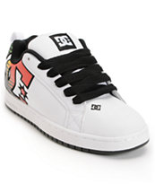 DC Court Graffik SE White & Rasta Skate Shoe