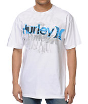 Hurley Sketched White Tee Shirt