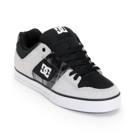 DC Pure XE Grey & Black Skate Shoe