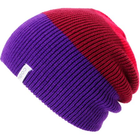 Coal Girls Frena Purple & Red Knit Beanie