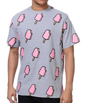 ICECREAM All Over Popsicle Heather Grey Tee Shirt
