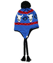Coal Girls Dakota Royal Blue Earflap Beanie