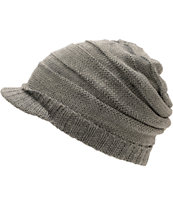 Coal Girls Cameron Grey Visor Beanie