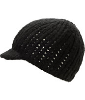 Coal Girls Mina Black Visor Beanie