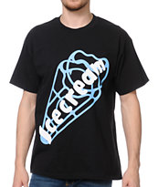 ICECREAM Cone Logo Black Tee Shirt