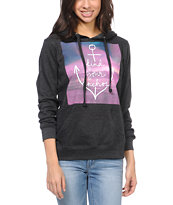 Empyre Girls Find Your Anchor Chacoal Pullover Hoodie