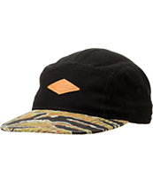 Empyre Black Tiger Camo Print 5 Panel Hat