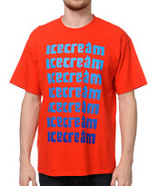 ICECREAM Classic Repeat Red Tee Shirt