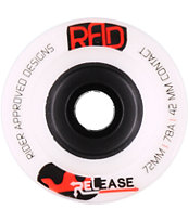 RAD Release 72mm White Longboard Wheels