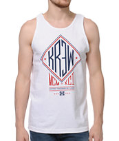 KR3W Outfield White Tank Top