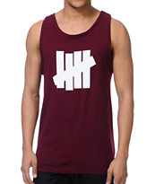 Undefeated 5 Strike Burgundy Tank Top