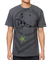 Metal Mulisha Bars Charcoal Tee Shirt
