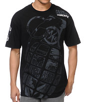 Metal Mulisha x Grenade Gloves View Point Black Tee Shirt