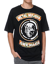 Metal Mulisha x Grenade Faceoff Black Tee Shirt