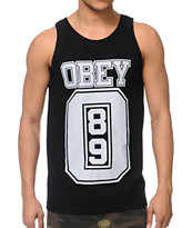 Obey Jersey Black Tank Top