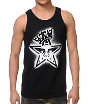 Obey Star Crown Stencil Black Tank Top