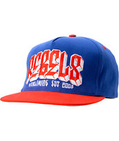 REBEL8 Worldwide Blue & Red Snapback Hat