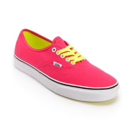 Vans Girls Authentic Virtual Pink Pop Lace Shoe