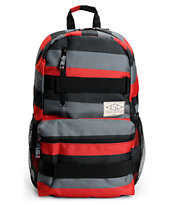 Empyre Transfer Red, Black & Grey Stripe Bakcpack