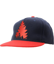 Casual Industrees Johnny Tree Navy & Red Snapback Hat