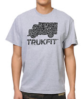 Trukfit Radiant Fill Heather Grey Tee Shirt