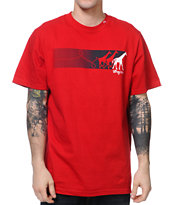 LRG Ahead Of The Pack Red Tee Shirt