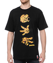 Booger Kids Rock, Paper, Cut Jeffrey Black & Cheetah Tee Shirt
