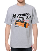Booger Kids Blowing Up Grey Tee Shirt