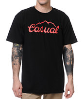 Casual Industrees Tap The Mountain Black Tee Shirt