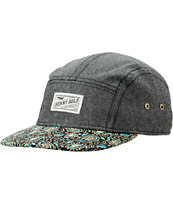 Benny Gold Cloud Paisley Black 5 Panel Hat