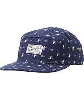 Benny Gold Making Waves Navy 5 Panel Hat