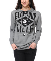 Glamour Kills GK Crews Heather Grey Pullover Hoodie